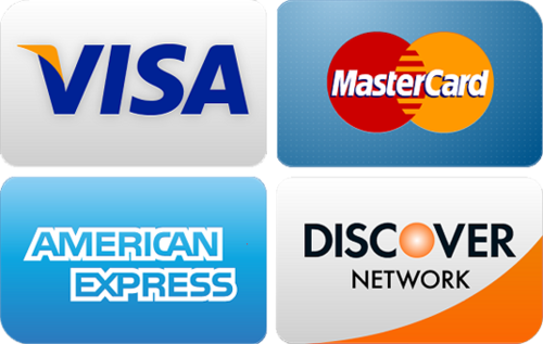 All Major Credit Cards are accepted for payment